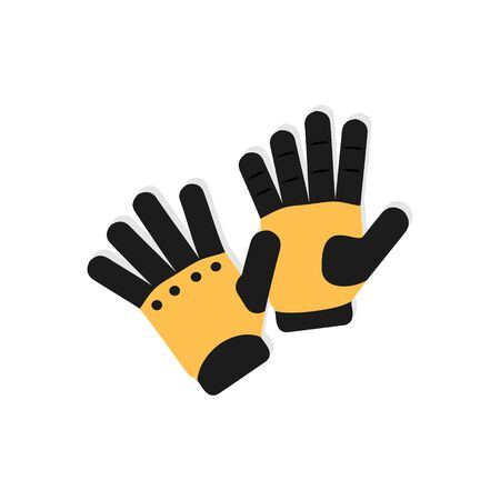 Sport gloves on white background. Stock Illustration Ilustração
