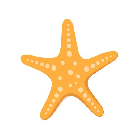 Starfish for summer design elements. Trendy flat style for graphic design, web-site. Stock Vector illustration