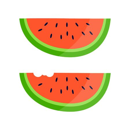 Watermelon on white background. Funny water melon illustration. Stock Vector illustration
