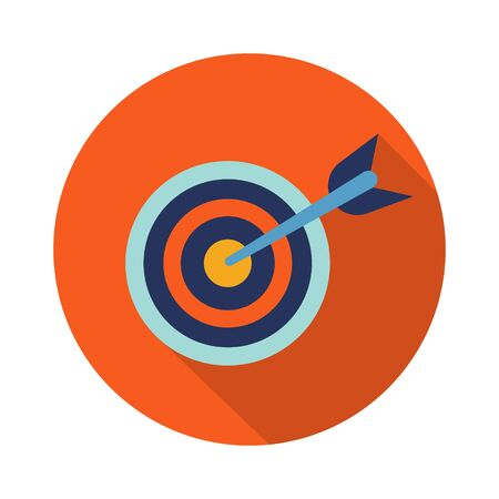 Target arrow icon in trendy flat style isolated. Stock Vector illustration Ilustração