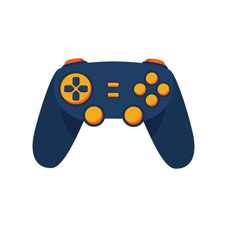 Gamepad controller for video game console. Stock Vector illustration