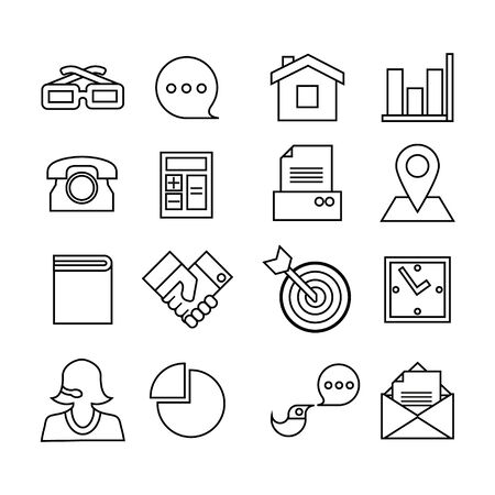 Web icons set. Trendy flat style for graphic design, web-site. Stock Vector illustration