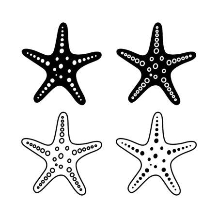 Starfish for summer design elements. Trendy flat style for graphic design, web-site. Stock Vector illustration Ilustração