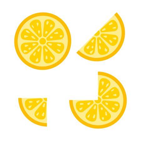 Fresh lemon fruits. Trendy flat style for graphic design, web-site. Stock Vector illustration