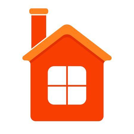 Home symbol icon. Dark orange color. Flat style. Vector illustartion