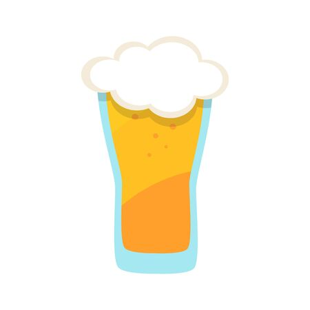 Full Glass Mug of Beer on white background. Stock Vector illustration Imagens - 149142263