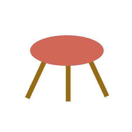 Three legged stool. isolated on white background Imagens - 150004146