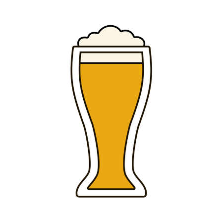 Glass of beer icon on white background. Stock Vector illustration for your graphic design