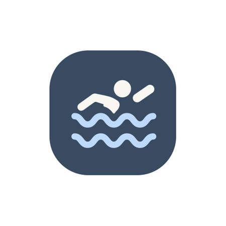 Swimming icon in trendy flat style isolated. Stock Vector illustration. Ilustração
