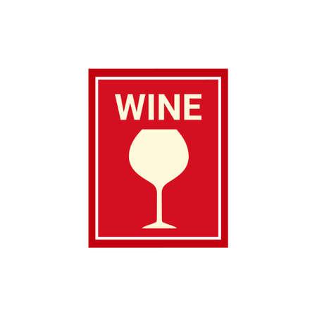Wine banner sign on white background. Vector illustration.