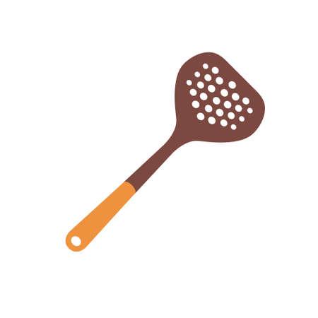 Spatula for kitchen. Plastic material. Vector illustration