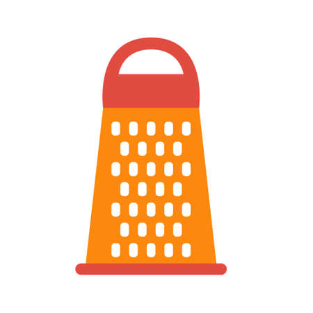 Grater - kitchen tool. For vegetables and fruits. Vector illustration
