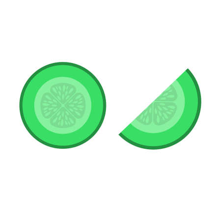 lime. Slice. Green color. Vector file for web and apps