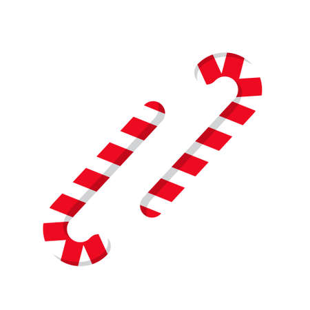Christmas cane, christmas candy, christmas stick. Traditional element of christmas. Red-white color