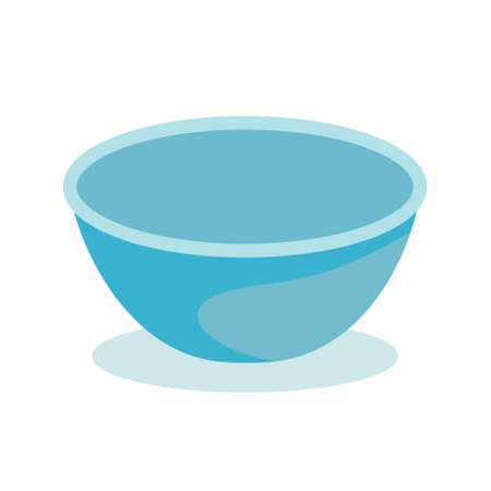 Soup plate of light blue color. For web and apps using