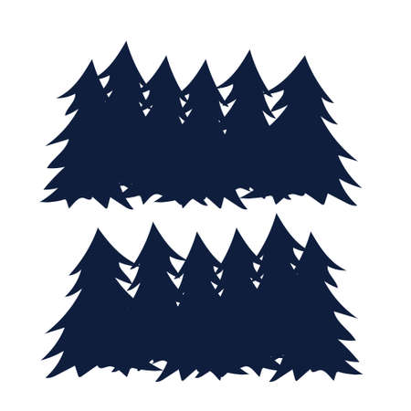 Seamless silhouette of coniferous forest, vector. For web and apps Ilustração