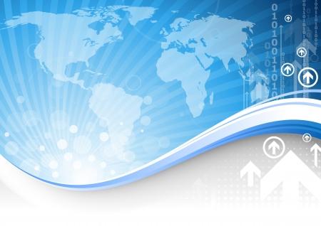 globális üzleti: Kék üzleti témájú háttér. Illusztráció
