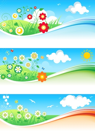 Abstract floral background with wave pattern. Stock Vector - 11051167
