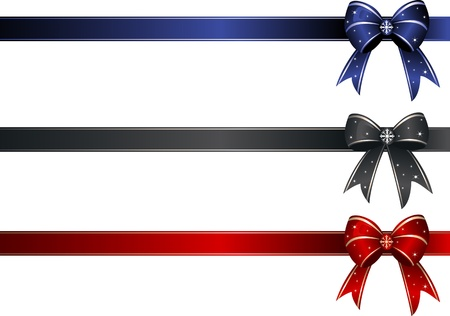 Set Band Knoten mit Kopie Raum. Illustration