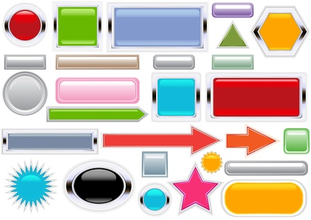 Colorful to choose from of these Internet or App operating system buttons. Stock Vector - 11159796