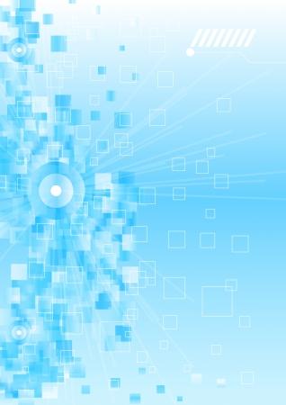Abstract sfondo blu business con motivo. Vettoriali