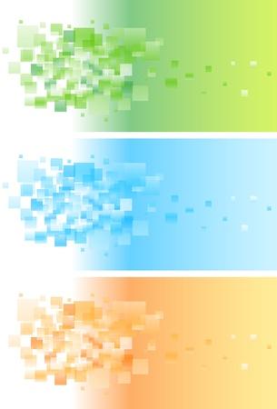 Astratto banner colorato set con pattern.