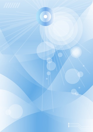 Abstract blue background with pattern and burst.