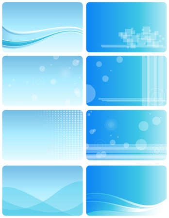 business card holder: Conjunto de tarjetas de visita diferentes.