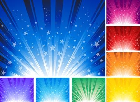 Sfondo astratto con le stelle. Illustrazione Ai 10 del documento. Vettoriali