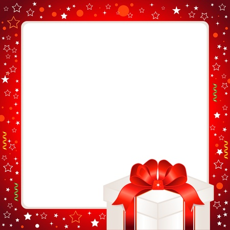 Gift box isolated on white background illustration. Vector