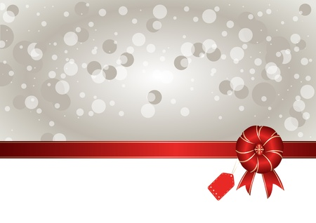 Gift bow with copy space. Vector
