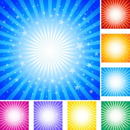 lucero: Resumen de fondo con estrellas. Ilustración AI 10 del documento. Vectores