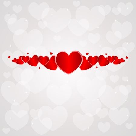Día de San Valentín de fondo con el corazón. Ilustración de vector