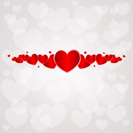 ornamental background: Saint Valentine Day background with hearts. Illustration