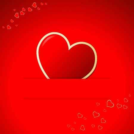 Valentine Day background with hearts. Vector