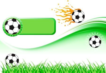 Alta illustrazione dei dettagli di calcio e tappeto erboso. Vettoriali
