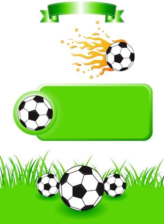 サッカーのデザイン要素のセットです。