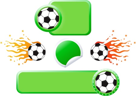 Set of football design elements. Stock Vector - 12439763