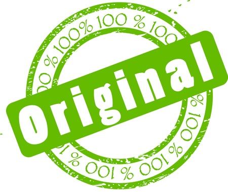 Grunge styled rubber stamp original. Vector