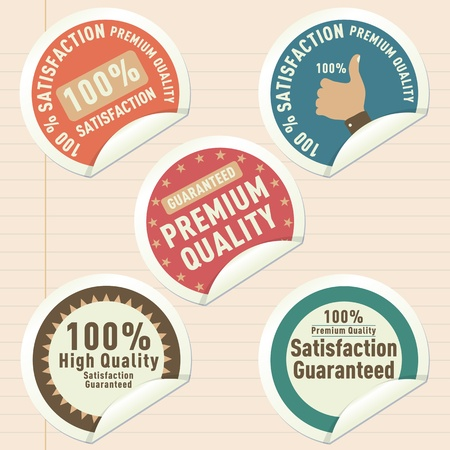 seal of approval: Thumb up satisfaction guaranteed label.