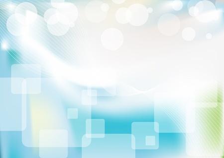 Blauwe gladde abstracte achtergrond met glanzende licht.