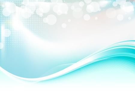 Bleu fond lisse abstrait avec lumière brillante.