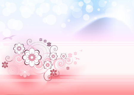Beautiful floral background with butterflies Stock Vector - 13632894