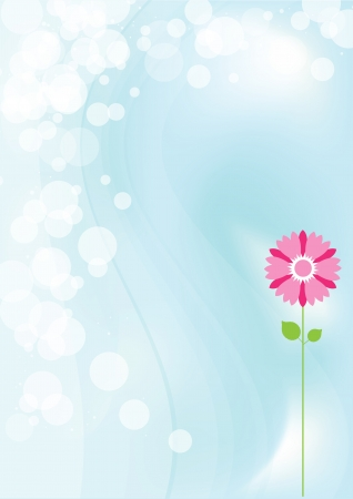 Camomile and abstract background. illustration  Vector