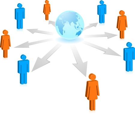 weblogs: Social media concept with icons