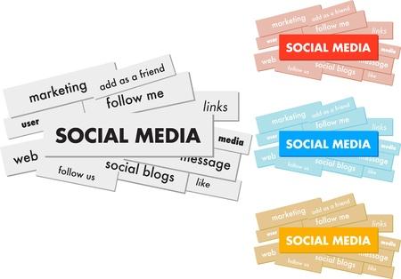 Social Media Mind-Map mit Networking-Konzept Worte