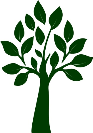 Bearbeitbare Illustration von Baum Illustration