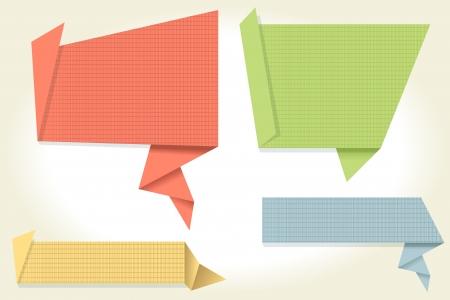 Bunte Origami Illustration
