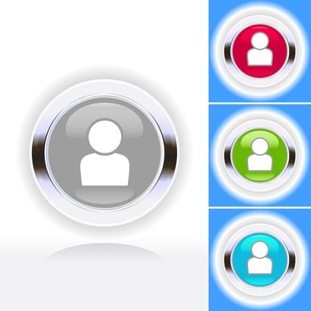 Shiny people symbol icon set Stock Vector - 14022688
