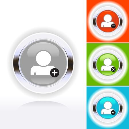 Colored people icon set in mode Stock Vector - 14022706